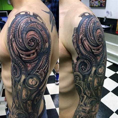 biomechanical sleeve tattoo designs biomechanical sleeve tattoos tattoofanblog