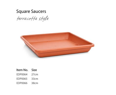 Square Planter Saucer by Enjoy Your Garden