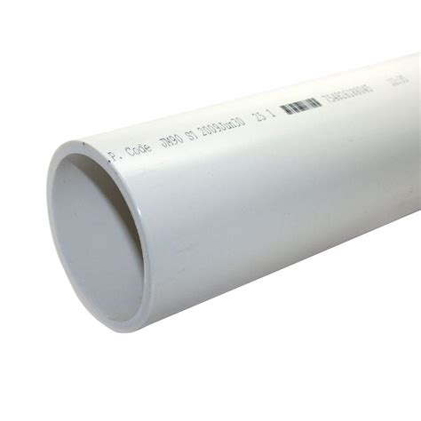 home depot pipe l 6 in x 10 ft pvc sch 40 dwv plain end pipe 30577 the