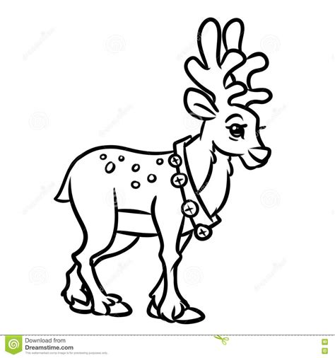cartoon deer coloring pages deer christmas coloring pages cartoon stock illustration