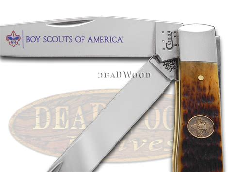 boy scouts of america knife xx boy scouts of america antique bone trapper stainless pocket knife knives ebay