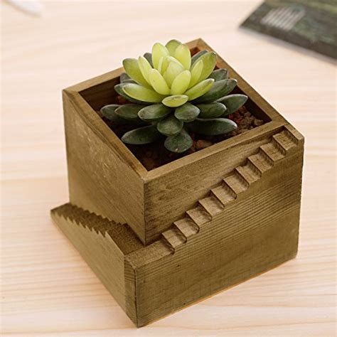 small wood planter box modern wood staircase design cube planter box small succulent plant c