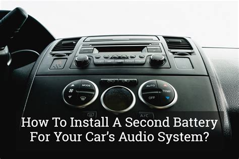 car audio wiring subwoofer 2nd battery question in 2