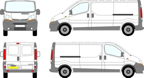 sign writing templates trafic vauxhall vivaro swb swing doors 2000 08