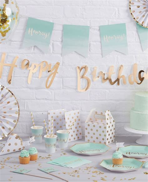 backdrop design for 21st birthday mint green gold party ideas party delights blog