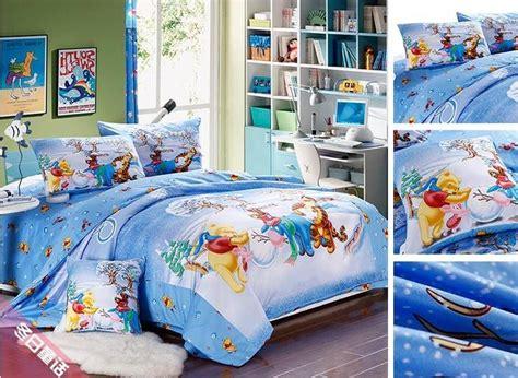 Tigger Bedding Sets King Blue Bedding Bed Linen Set Winnie The Pooh Tigger Print