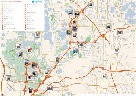 Printable Orlando Area Map | file orlando printable tourist attractions map jpg