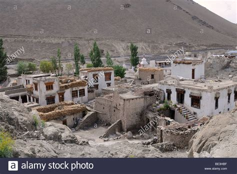 indus valley buying house oasis village of alchi ladakh himalayas indus valley india asia stock photo