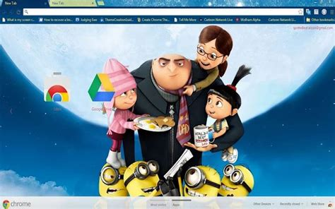 theme line despicable me 2 10 best images about despicable me chrome themes on