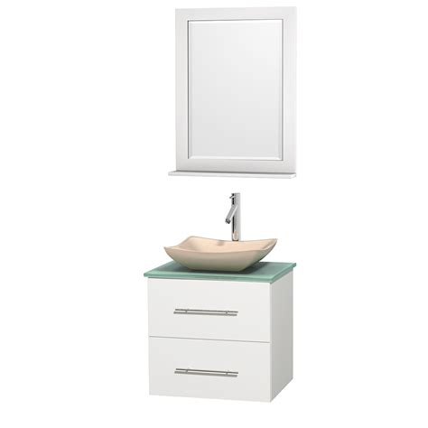 Centra 24 In Single Vanity In White With Solid Surfacetop | wyndham collection wcvw00924swhgggs2m24 centra 24 inch
