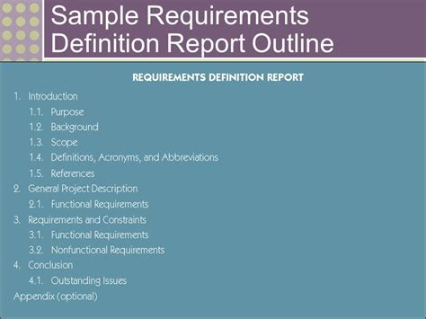 report layout definition fact finding techniques for requirements discovery