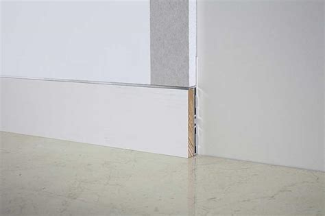 flush baseboard flush to the wall baseboard