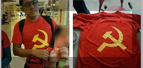 Kaos Murah Dari Negara Souvenir Singapura gunakan kaos bersimbol pki pria singapura hebohkan mega mall batam