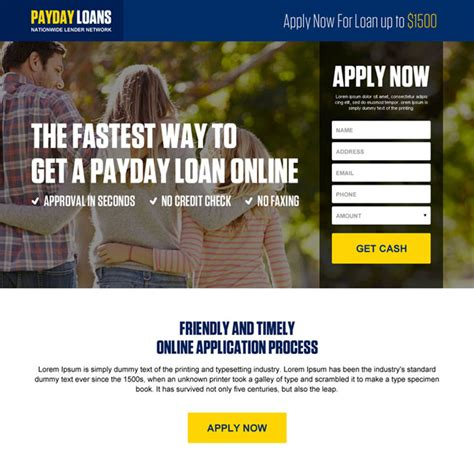Payday Loans No Id Required by Payday Loan Landing Page Design Templates For Payday Loan Business Conversion