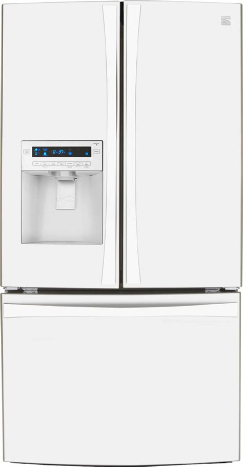 Kenmore Elite Refrigerator Manual French Door - kenmore elite 72052 31 0 cu ft french door bottom freezer refrigerator white sears outlet