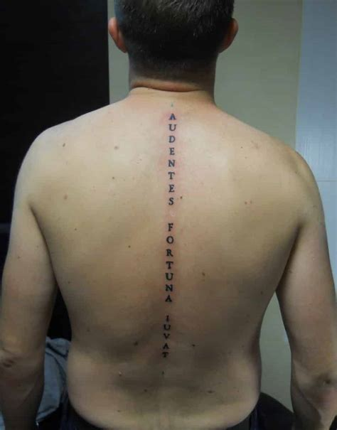 tattoo lettering down spine spine tattoos for men ideas and designs for guys