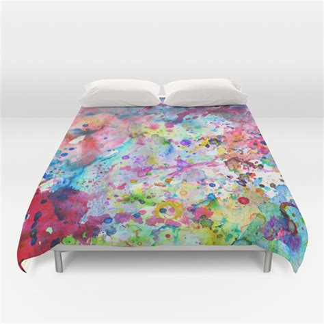 paint splatter comforter abstract bright watercolor paint splatters pattern duvet cover