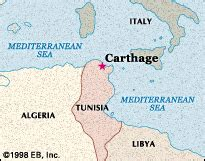 pin ancient carthage map on