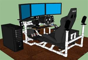 Diy Gaming Computer Desk Plans Sim Rig Gaming Desk My Diy Racing Rig Project