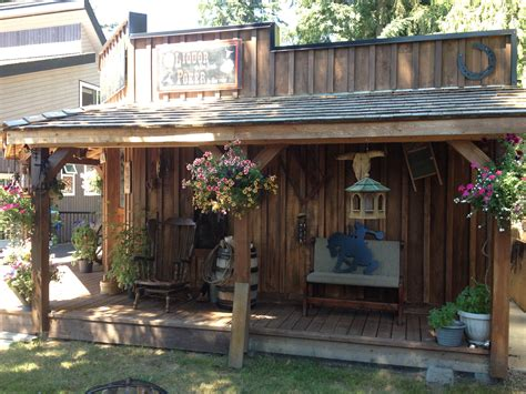 veranda western style western theme shed saloon look saloon western