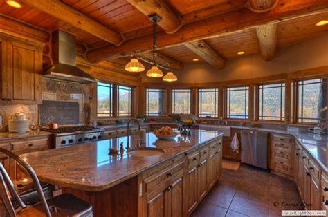 Log Home Kitchen Pictures by Log Home Tour Whitefish Mt Estate