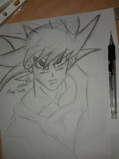 Z Sketches by Pencil Sketch Of Goku From Z By