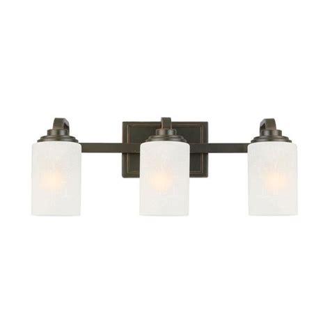 hton bay bathroom light fixtures hton bay 3 light oil rubbed bronze vanity light