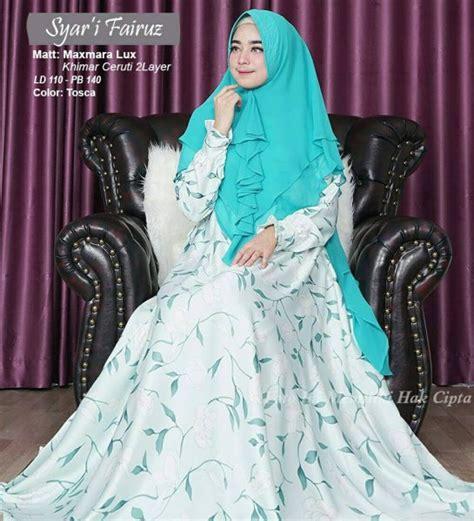 Fairuz Syari gamis maxmara motif fairuz syari baju muslim modern