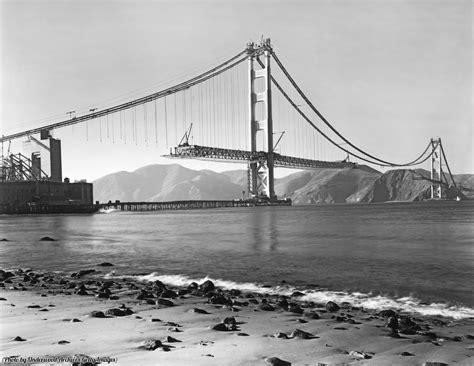 Golden Gate Bridge Supreme Iphone All Hp view from field during construction of the golden gate bridge with the roadbed being