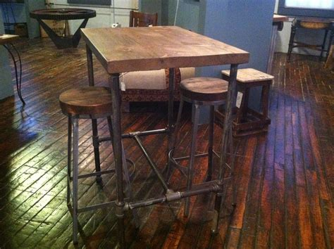 Reclaimed Wood Bar Table Made Pipe Base Pub Table With Reclaimed Wood Top By Reworx Collective Custommade