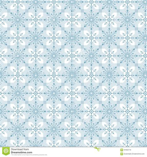 pattern in blue color seamless winter snow flakes background pattern stock
