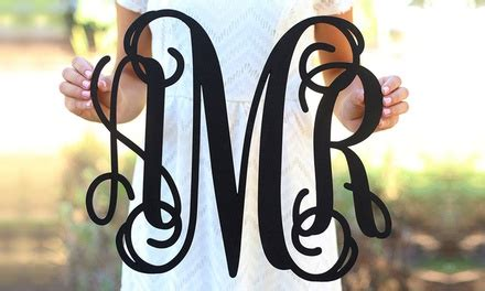 groupon morgann hill design monogrammed signs morgann hill designs groupon