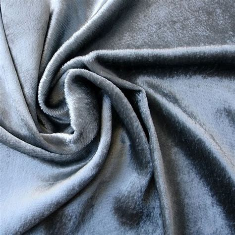 Silver Velvet Upholstery Fabric by Light Silver Velvet Fabric Yardage Commercial Fabric By