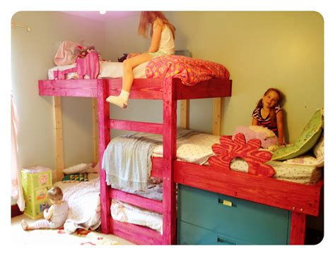 3 bunk beds the handmade dress new triple bunks