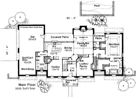 southern style house plan 4 beds 3 5 baths 3335 sq ft plan 310 108 main floor plan