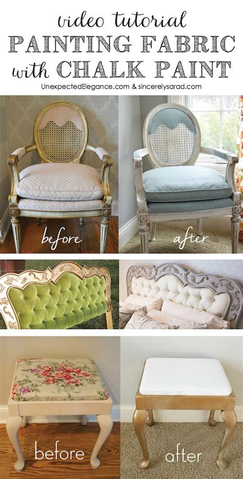 diy chalk paint on upholstery painting fabric with chalk paint tutorial