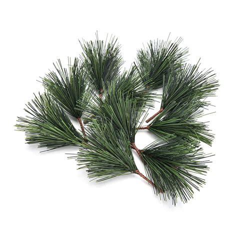 artificial christmas tree 3 pcs sets 10 pcs lot artificial pine needles tree decor needle mixed branchs ornament
