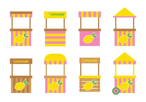 free design resources vector lemonade stand design vector download free vector art