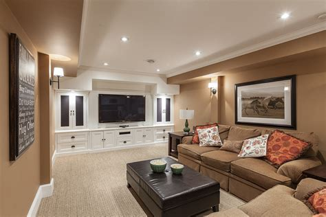 Decorating A Small Basement Family Room With Brown L
