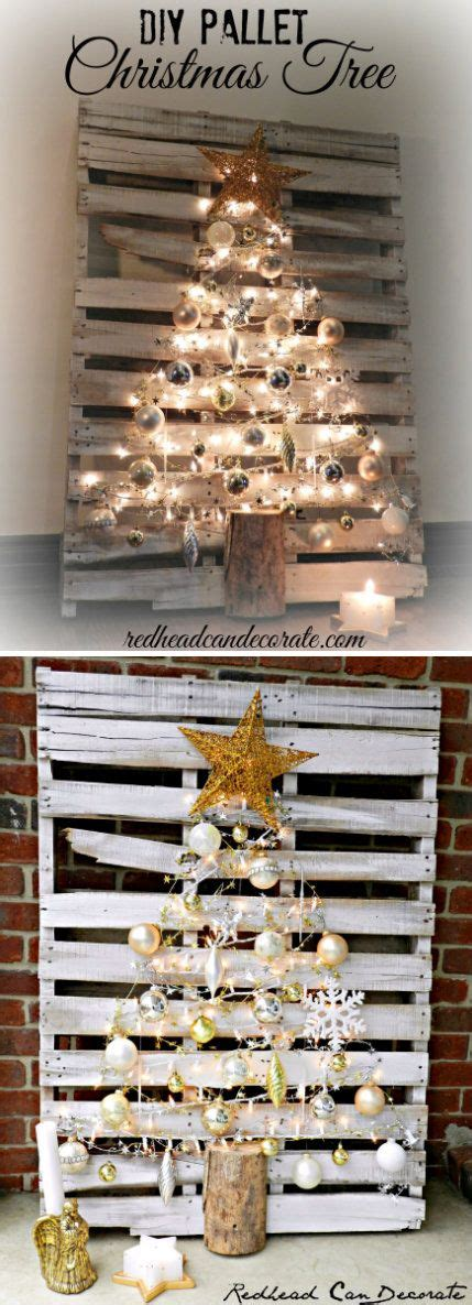 christmas decorations made from wood pallets awesome diy decorations made from pallets hative