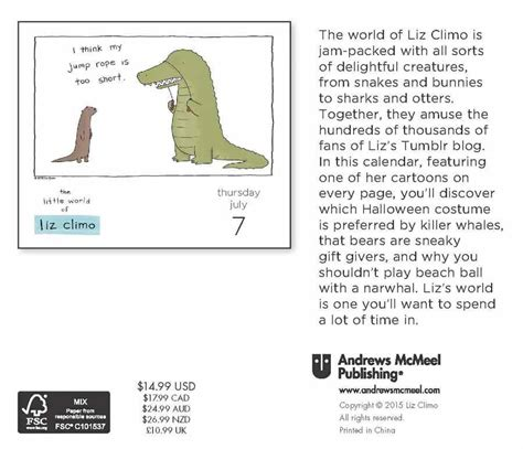 the world of liz climo 2018 day to day calendar world of liz climo 2016 boxed page a day calendar