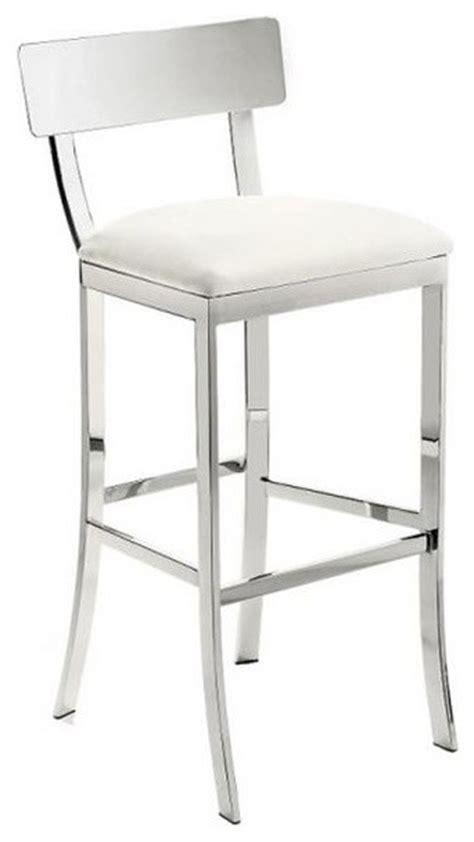 white counter height bar stools artefac chrome finish stool bar stools and counter stools houzz