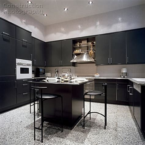 black kitchen cabinets countertop painting loft colors home interior design and