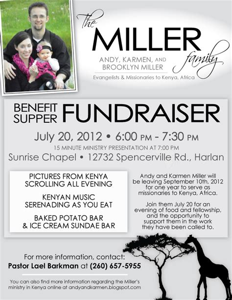 benefit fundraiser flyer template images