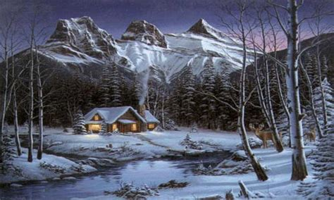winter cabin paintings of cabins winter cabin paintings cabin in