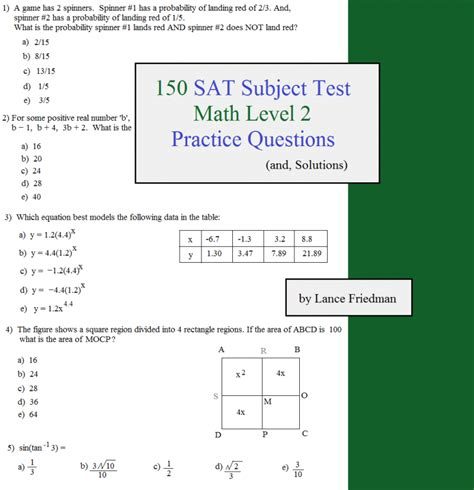 sat math section practice math plane sat subject test level 2 topics to know