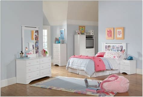 white kids bedroom set youngsters bed room white furnishings units house