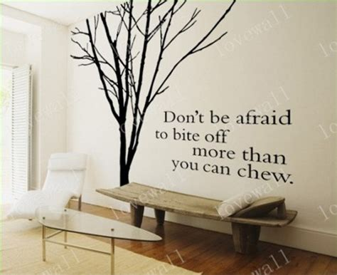 Tree Branch Wall Sticker winter bare tree without leaves trees branch english quote
