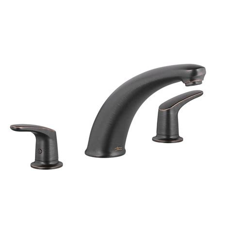 colony bathtub delta lahara 2 handle deck mount roman tub faucet with hand shower trim kit only in