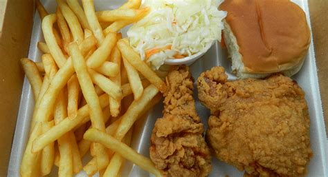 Fried Fries fried chicken and fries